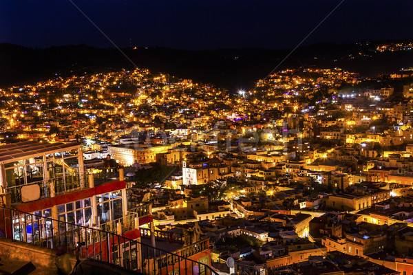 Alhondiga de Granaditas Overlook Night Guanajuato Mexico  Stock photo © billperry