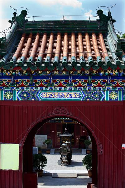 Будду храма вход Пекин Китай ворот Сток-фото © billperry