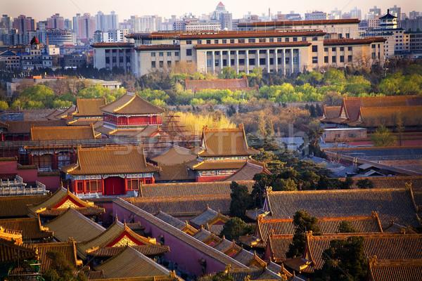 Sala persone rosso città proibita Pechino Foto d'archivio © billperry