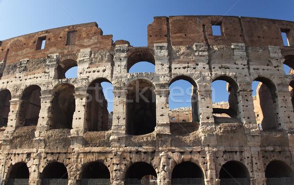 римской Колизей Рим Италия город строительство Сток-фото © billperry