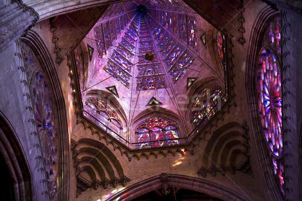 Templo cúpula vidrieras México dentro Foto stock © billperry