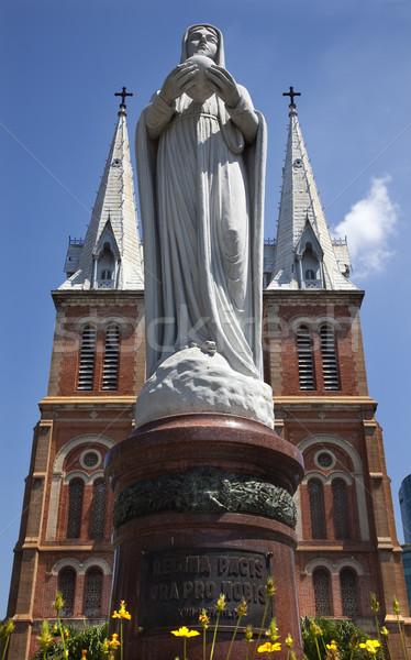 Notre Dame Catherdral Vigin Mary Statue Saigon Vietnam Stock photo © billperry