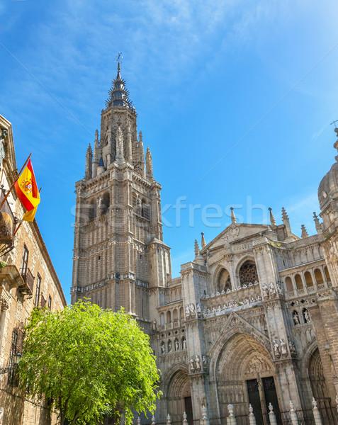 大聖堂 スペイン国旗 スペイン 完成した 建物 教会 ストックフォト © billperry