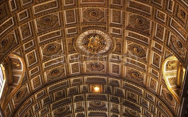 Ватикан внутри потолок Рим Италия Сток-фото © billperry