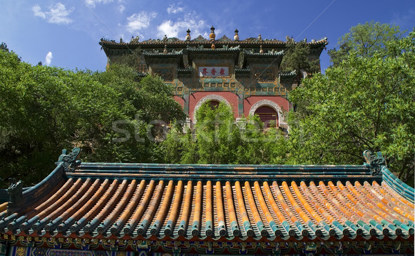 Gate Longevity Hill Summer Palace Beijing China Stock photo © billperry