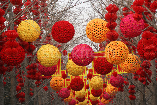 Chinese, Lunar, New Year Large Decorations Ditan Park, Beijing,  Stock photo © billperry