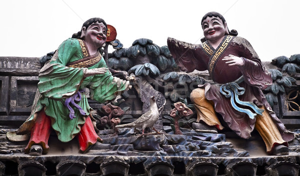 Figurine Sculptures Buddhist Jade Buddha Temple Jufo Si Shanghai Stock photo © billperry