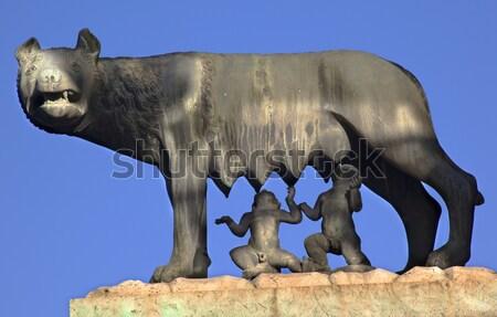 オオカミ 像 フォーラム ローマ イタリア 旅行 ストックフォト © billperry