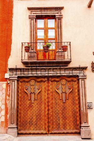 Dourado marrom porta natal coroa Foto stock © billperry