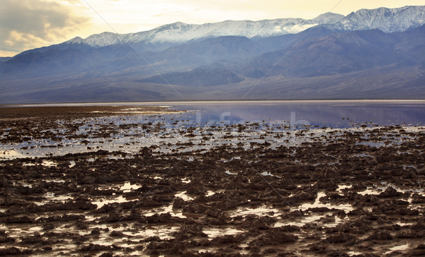 Badwater with Black Mountains Death Valley National Park Califor Stock photo © billperry