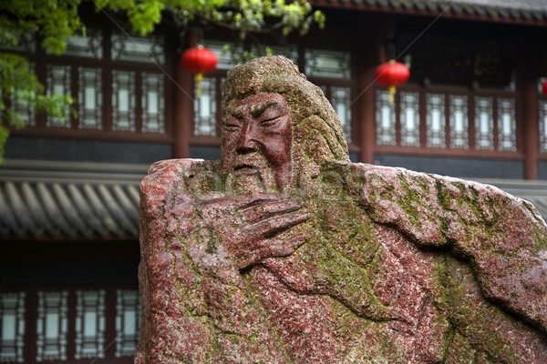 Old Guan Yu Statue in Peach Garden Wuhou Three Kingdoms Temple C Stock photo © billperry