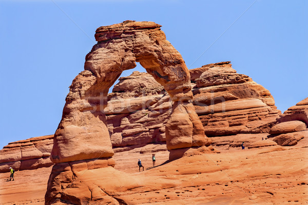 Delicate Arch Rock Canyon Arches National Park Moab Utah  Stock photo © billperry