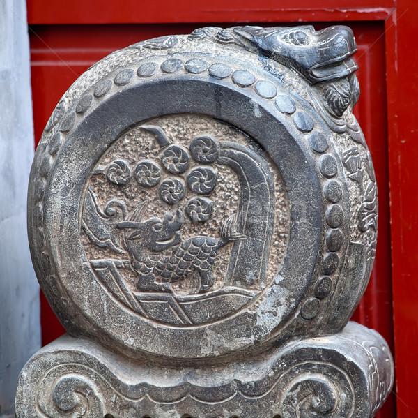 China draak deur steen Beijing stenen Stockfoto © billperry
