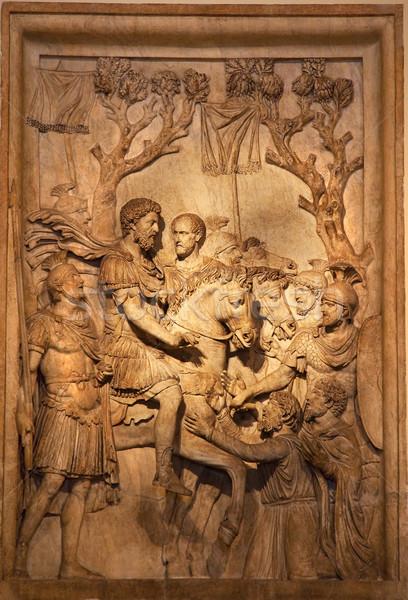 Roman Marcus Aurelius Sculpture Capitoline Museum Rome Italy Stock photo © billperry