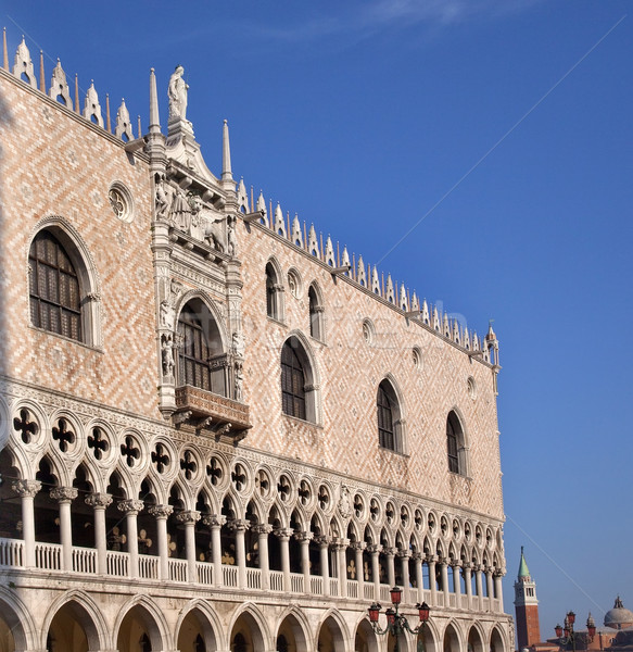 Doge's Palace Details Statues Venice Italy Stock photo © billperry