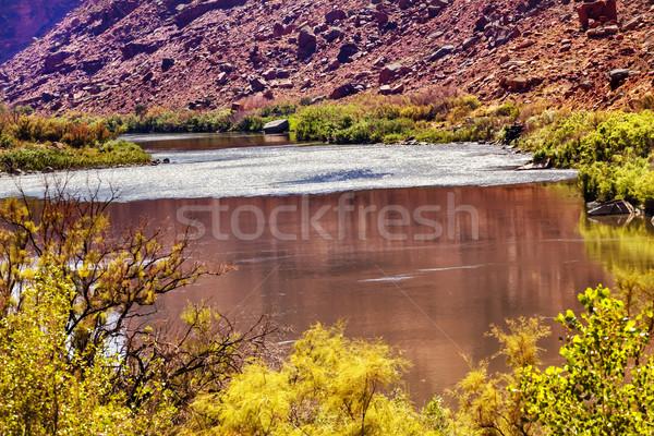 赤 ブラウン コロラド州 川 反射 抽象的な ストックフォト © billperry