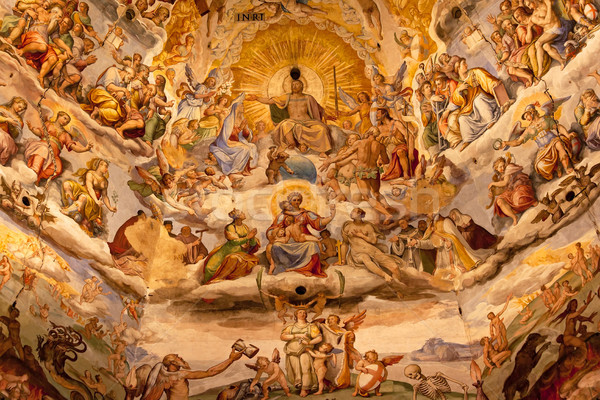 Jesus Christ Vasari Fresco Dome Duomo Cathedral Basilica Dome Fl Stock photo © billperry
