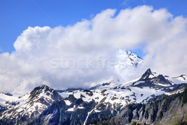 Mount Baker Under Clouds from Artist Point Washington State Stock photo © billperry