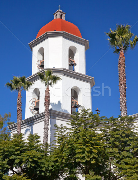 Mission San Juan Capistrano Basilica Steeple Church California  Stock photo © billperry