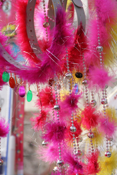 Beads Bangles and Feathers Chinese New Year Head Gear Stock photo © billperry