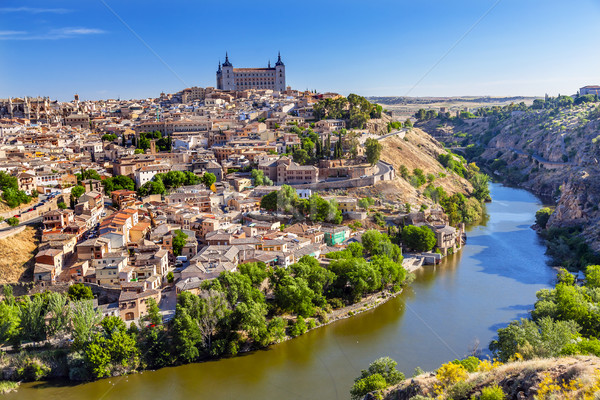 Alcazar Fortress Medieval City Tagus River Toledo Spain Stock photo © billperry
