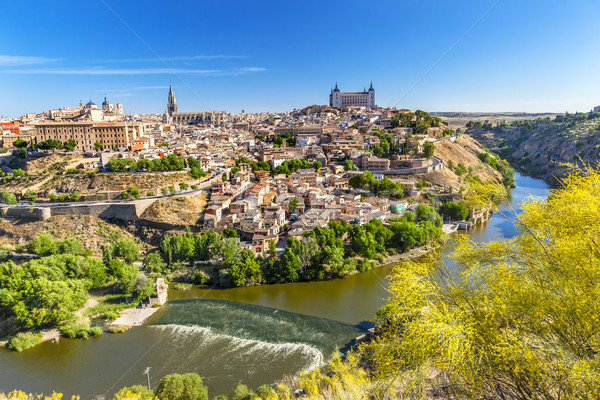 Alcazar Fortress Churches Cathedral Medieval City Tagus River To Stock photo © billperry