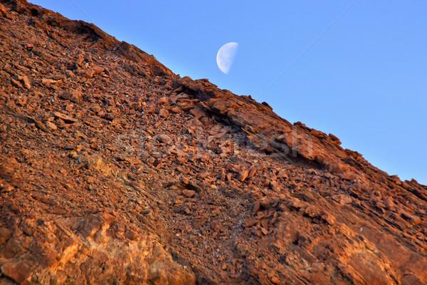 Złoty kanion ściany księżyc śmierci dolinie Zdjęcia stock © billperry
