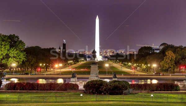 Mall Washington Monument avond sterren bouw Stockfoto © billperry