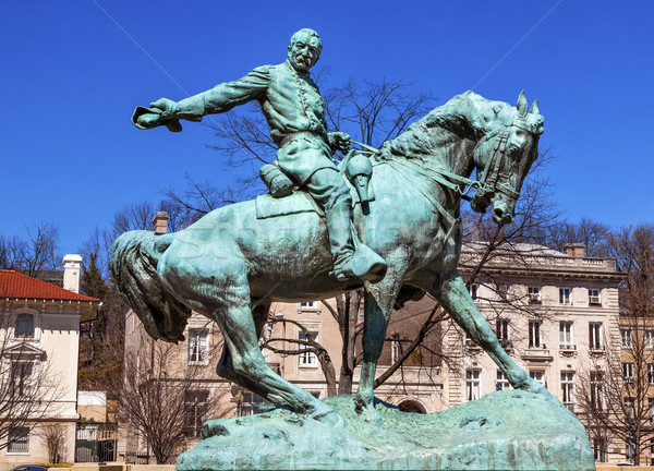 General Phil Sheridan Statue Sheridan Circle Embassy Row Washing Stock photo © billperry