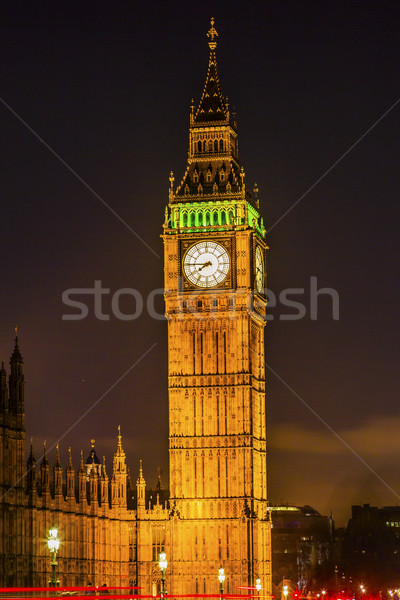 Big Ben Tower Nght Houses of Parliament Westminster London Engla Stock photo © billperry