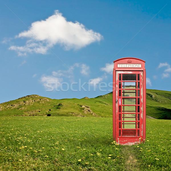 Oproep vak brits telefoon kraam platteland Stockfoto © Binkski