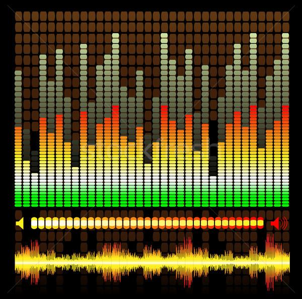 Korektor streszczenie wzór świetle fali dźwięku Zdjęcia stock © Binkski