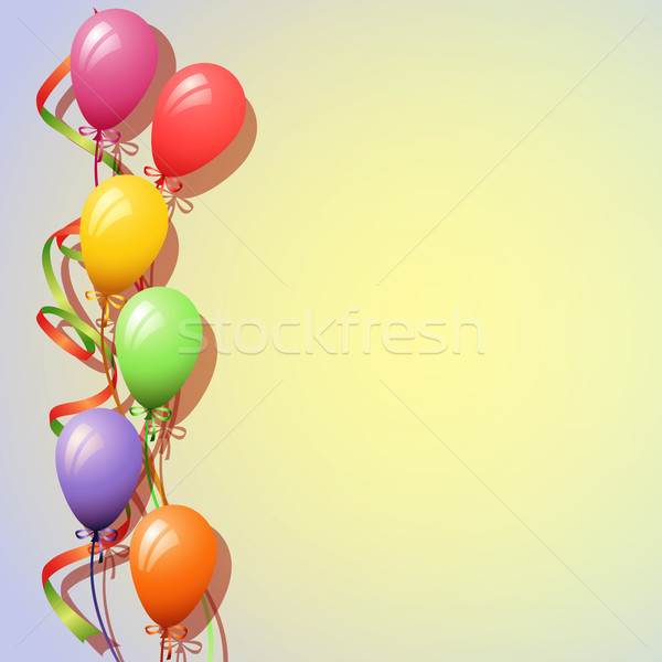 Globos fiesta cinta globo carnaval vector Foto stock © Binkski
