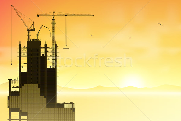 Tower Cranes Stock photo © Binkski