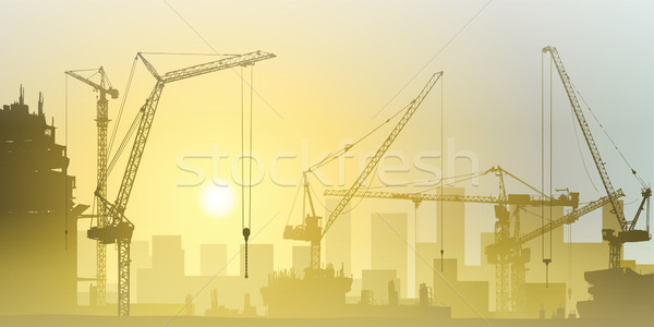 Tower Cranes Stock photo © Binkski