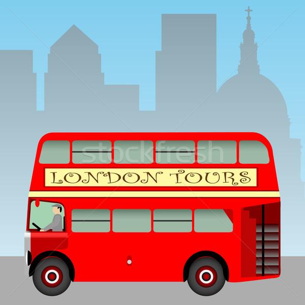 Red London Bus Stock photo © Binkski