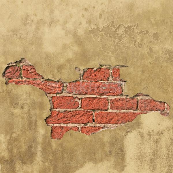 Muur oude gips muur achtergrond vuile Stockfoto © Binkski