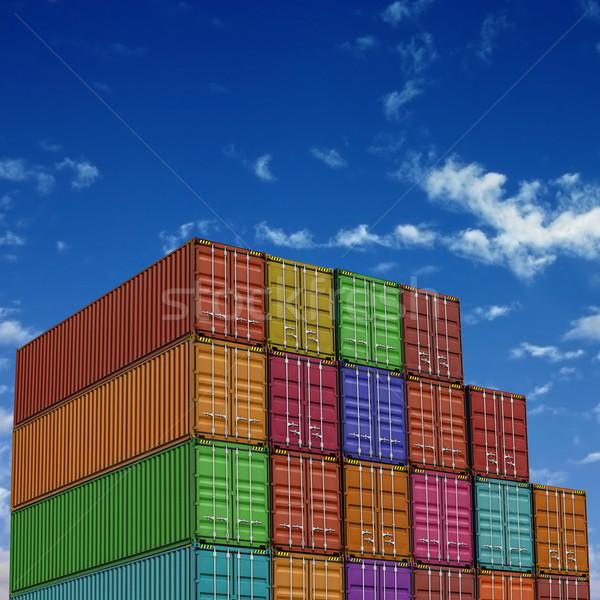 Industria industrial transporte contenedor envío Foto stock © Binkski