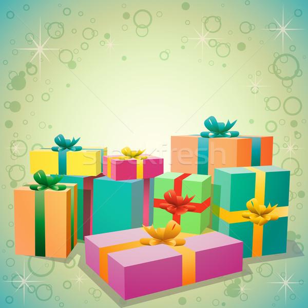 Regalos cajas de regalo cumpleanos regalo paquete Foto stock © Binkski