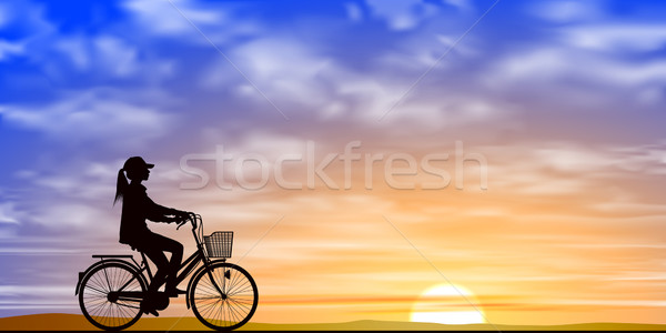 Girl on a Bicycle Stock photo © Binkski