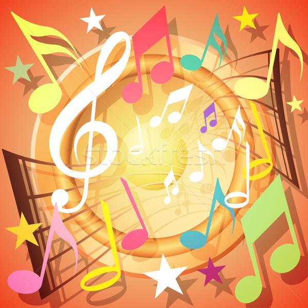 Musical Background Stock photo © Binkski