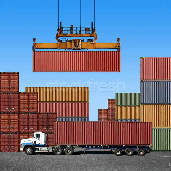 Freight Containers Stock photo © Binkski