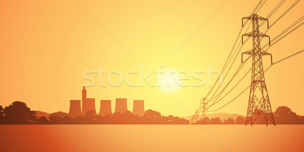 Stock photo: Electrical Power Lines