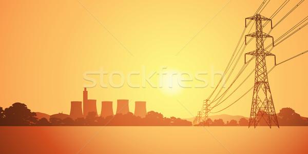 Electrical Power Lines Stock photo © Binkski