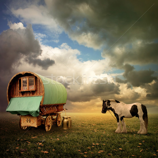 Gypsy Wagon, Caravan Stock photo © Binkski