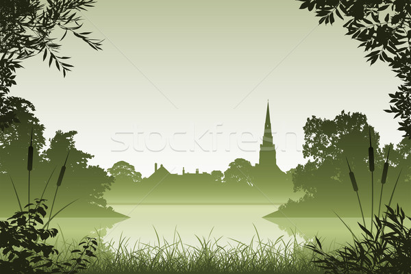 Landscape with Church Stock photo © Binkski