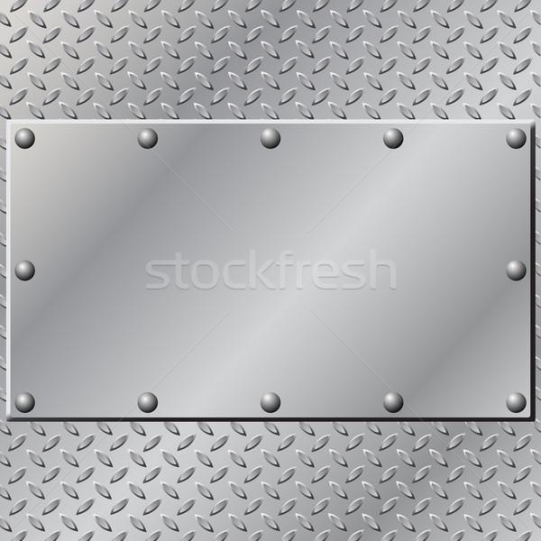 金属 プレート 抽象的な 背景 鉄 銀 ストックフォト © Binkski