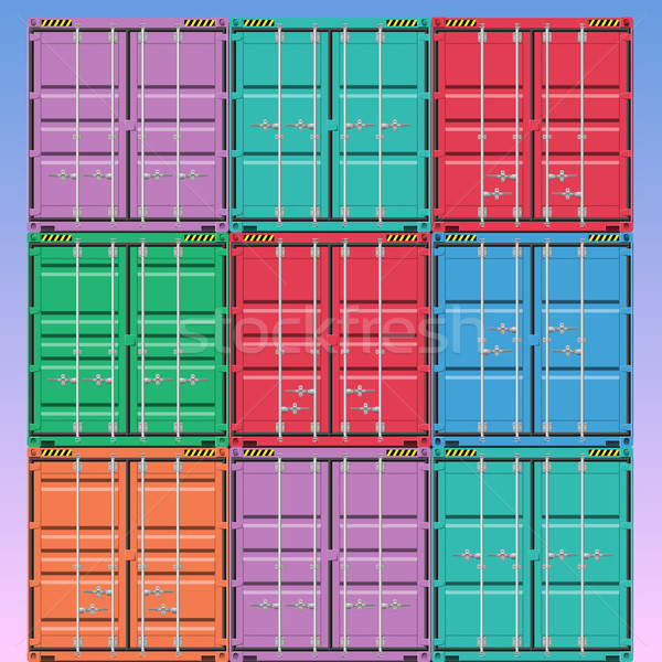 Vector industriële levering container scheepvaart Stockfoto © Binkski