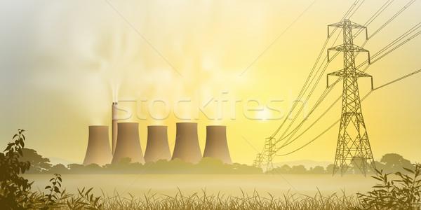 Elektriciteit plant elektrische koeling Stockfoto © Binkski