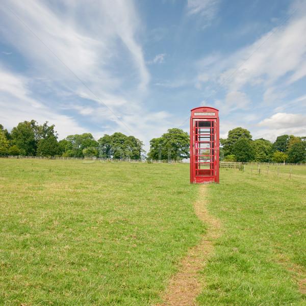 Telefoon kraam brits telefoon permanente alleen Stockfoto © Binkski
